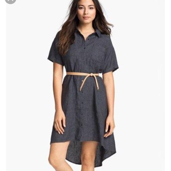 a735146091a Eileen Fisher Dresses   Skirts - Eileen Fisher linen high low shirt dress  size XS